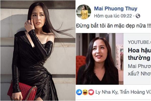 """Mai Phương Thúy mệt mỏi """"đừng bắt tôi mặc đẹp nữa"""", bình luận của Hoàng Thùy Linh mới đáng chú ý"""