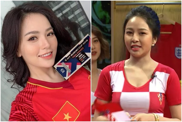 """Trâm Anh - Huyền Trang: Hai hot girl bóng đá so kè nhan sắc và độ """"thị phi"""" nhất MXH"""