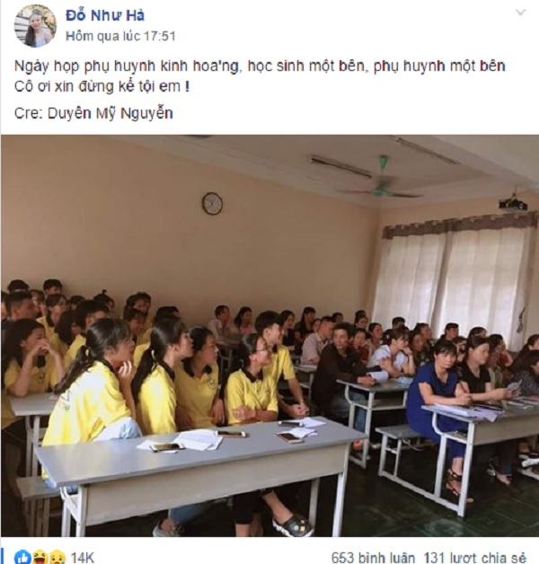 Ảnh 1: Phụ huynh và học sinh cùng ngồi họp - We25.vn