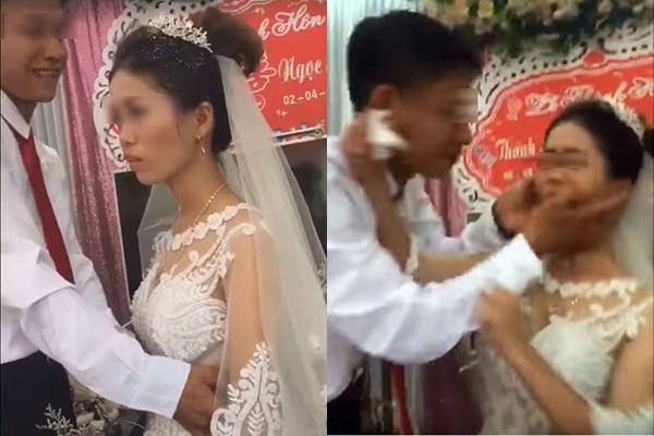 """Ngày cưới mà mặt cô dâu như """"bánh bao hấp nước"""", dân mạng bức xúc thay chú rể: """"Trả về nơi sản xuất đi""""!"""