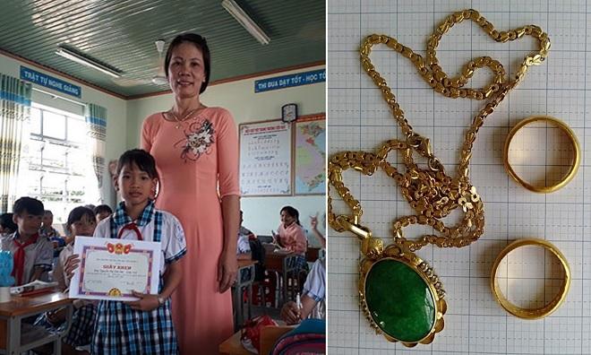 Học sinh trả lại vàng trị giá 20 triệu đồng cho người mất của tại Bình Phước