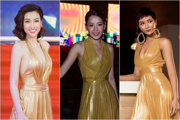 """Mặc chung váy với Đỗ Mỹ Linh và H-Hen Niê, """"cay"""" thay chỉ vì lý do này Chi Pu bị ví như mặc rèm cửa"""