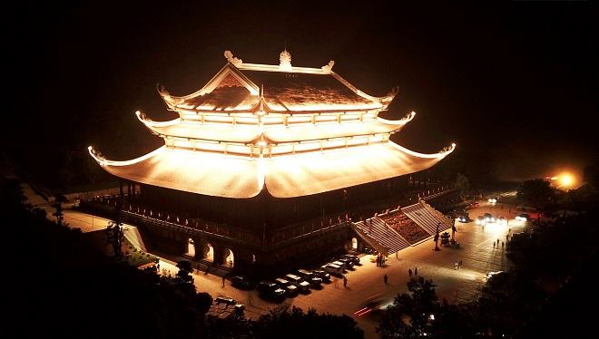Cận cảnh hoành tráng của trung tâm hội nghị quốc tế chùa Tam Chúc chuẩn bị cho đại lễ Phật đản Liên hiệp Quốc 2019