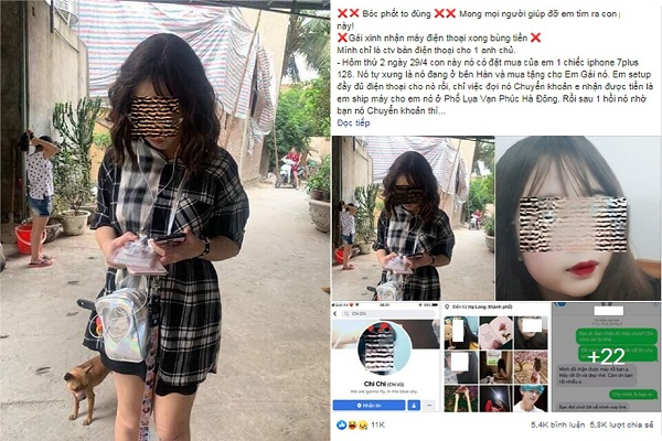 """Nữ sinh xinh đẹp 17 tuổi bị """"bóc phốt"""" dùng phần mềm photoshop hóa đơn ngân hàng để lừa đảo hơn 100 triệu đồng"""