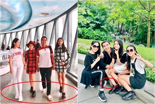 """""""Tháp tùng"""" vợ và 2 con gái đi du lịch, Quyền Linh bị dân mạng đòi """"tịch thu"""" ngay """"bảo vật"""" chân quê này"""