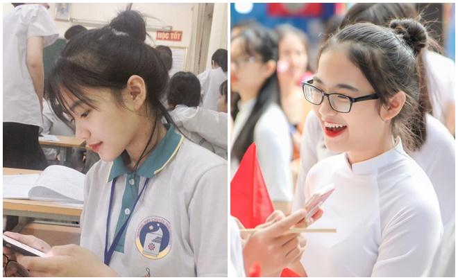 Nữ sinh trường chuyên Thái Nguyên bị bạn chụp lén lộ vẻ đẹp trong trẻo như thiên sứ