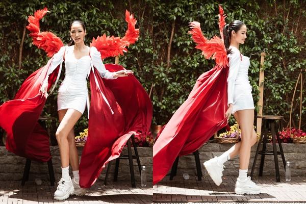 Trước thềm MU 2019, Hoàng Thùy trình diễn catwalk với phong cách Victoria-s Secret?
