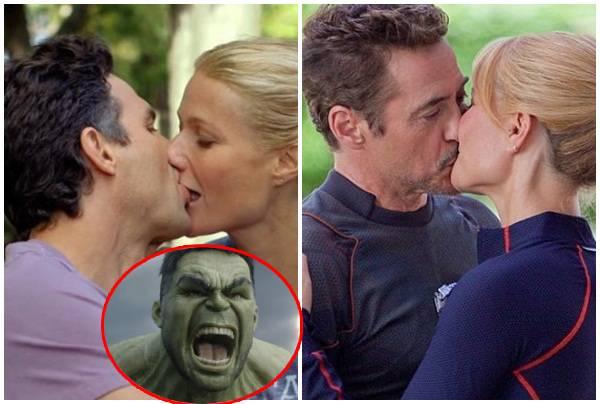 """Sau đám tang Tony Stark, Hulk và Pepper công khai hôn nhau, """"cắm sừng"""" người sắt?"""