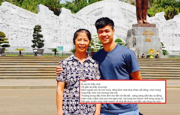 """Nhân ngày của mẹ, dân mạng lục lại bức thư xúc động Công Phượng gửi mẹ: """"Đi xa thì thấy nhớ, về gần lại thấy thương!"""""""