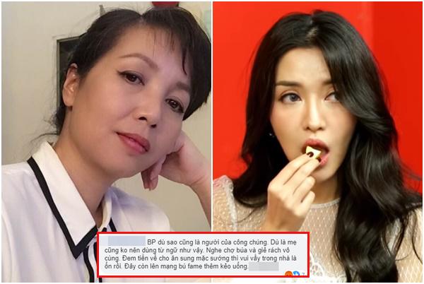 """Dìm con gái giảm cân vẫn ế chỏng chơ, mẹ Bích Phương bị anti-fans nói """"giả tạo, làm màu""""?"""