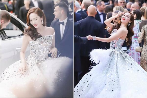 """Người thì nhỏ còn ham váy to, Jessica suýt té """"sấp mặt"""" mấy lần trên thảm đỏ Cannes 2019"""