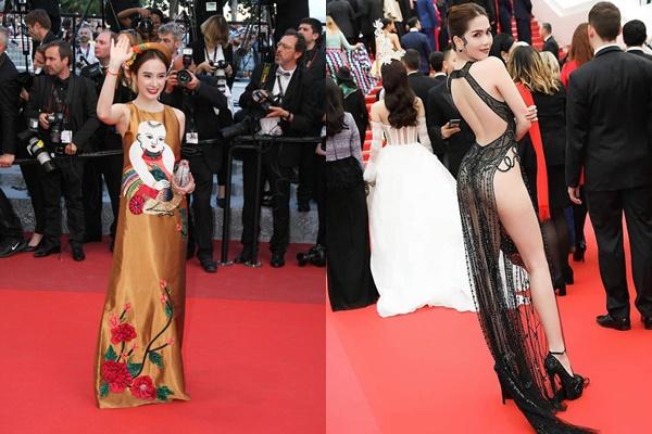 """2 mỹ nhân tên Trinh cùng đến Cannes không biết để làm gì, nhưng Phương Trinh vẫn """"khôn"""" hơn Ngọc Trinh nhiều"""