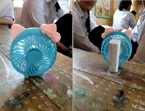 Ảnh 2: Học sinh chống nóng độc đáo - We25.vn
