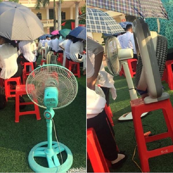 Ảnh 5: Học sinh chống nóng độc đáo - We25.vn