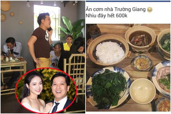 """Quán cơm bị tố bán đắt, Trường Giang lấp liếm giải thích: """"Tôi có lý do đặc biệt"""""""