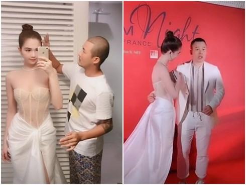 Mặc kệ ai chửi ai chê, Ngọc Trinh tiếp tục trình làng bộ váy thứ 3 tại Cannes không khác corset quấn vải