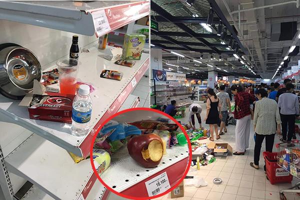 """Thông báo đại hạ giá 50%, siêu thị bị khách mua hàng """"khoắng"""" sạch sành sanh, lại còn tự ý bóc đồ ra """"thử"""" chất lượng"""