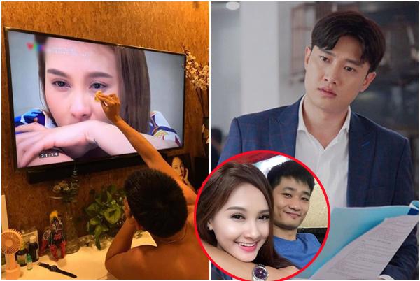 """Sau khi """"tán tỉnh"""" bạn diễn, Bảo Thanh lại khoe chồng """"mặn mòi"""" bao dung lau nước mắt cho vợ!"""