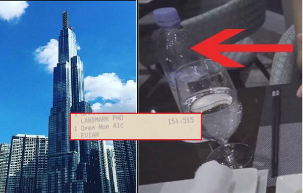 """Chưa """"hoàn hồn"""" trước tô phở 920k, nhà hàng ở Landmark 81 tiếp tục gây choáng với chai nước suối 500ml giá 175k"""