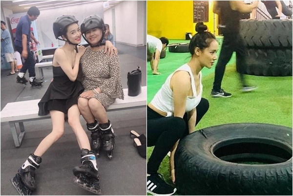 Vừa sinh xong đã vội tập gym giảm cân, Nhã Phương lộ đôi chân tong teo phát sợ