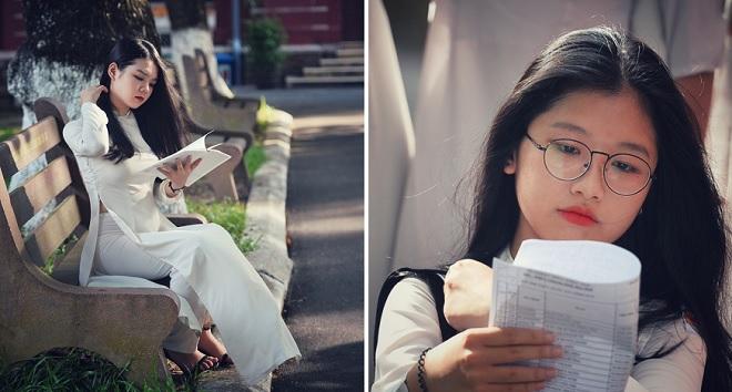 """Những """"nàng thơ"""" tung tăng áo dài trắng của trường Quốc học Huế đẹp dịu dàng trong ngày bế giảng"""