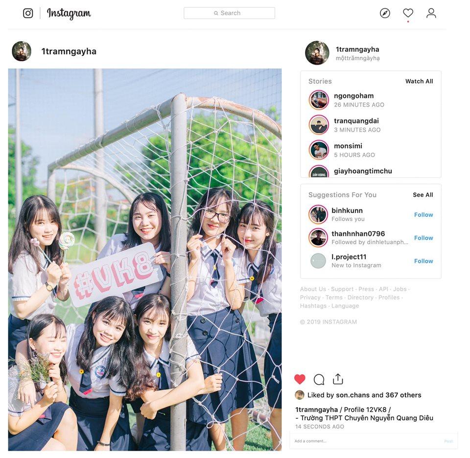 Ảnh 5: Instagram riêng để lưu ảnh kỷ yếu - We25.vn