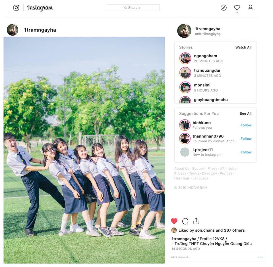 Ảnh 6: Instagram riêng để lưu ảnh kỷ yếu - We25.vn