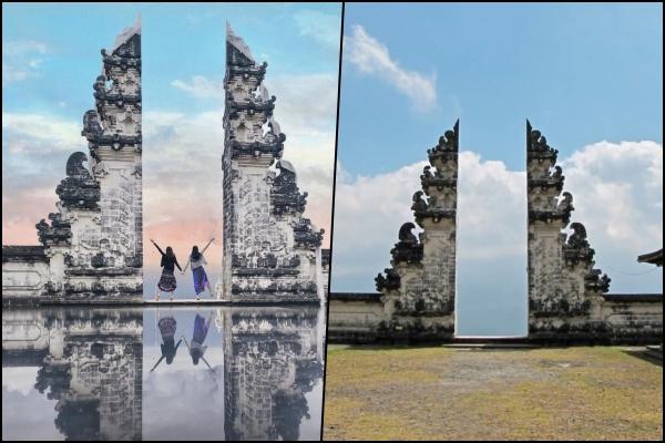 """Sự thật đằng sau những bức ảnh cổng trời phản chiếu ở Bali, tất cả chỉ là một """"cú lừa"""""""