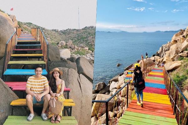 Set kèo đi biển Bình Hưng ngay để check-in giữa con đường cầu vồng HOT nhất hè này