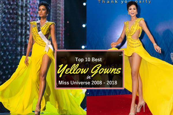Chiếc đầm vàng của H'Hen Niê lại được bình chọn là trang phục đẹp nhất lịch sử Miss Universe