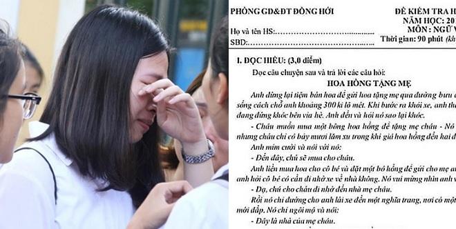 """Học sinh Quảng Bình """"vớ bở"""" vì đề thi vào lớp 10 giống đề thi học kỳ, 24 học sinh có nguy cơ thi lại"""