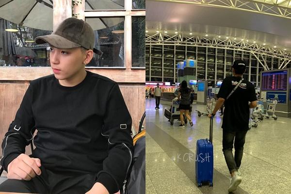 Long Hoàng bị chụp lén ở sân bay Nội Bài, bịt khẩu trang kín mít khăn gói quả mướp sang Hàn thực hiện giấc mơ Idol