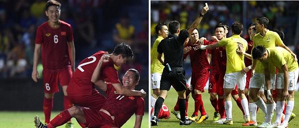 Thái Lan 0-1 Việt Nam: Phạm lỗi thô bạo, còn vả vào mặt đối phương mà Thái Lan vẫn thua