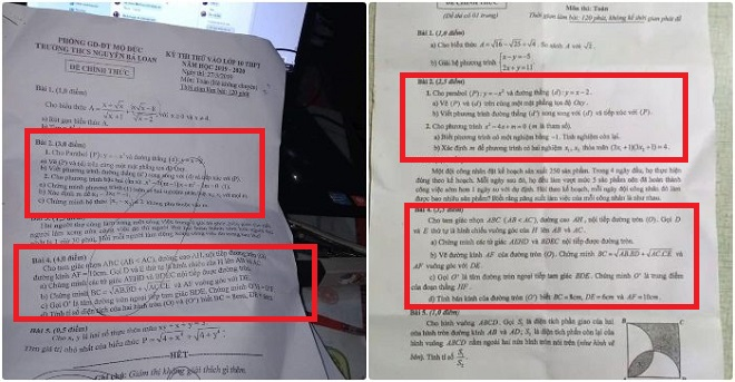 Xôn xao đề thi môn Toán vào lớp 10 tại Quảng Ngãi có câu giống đề thi thử của một trường cấp 2