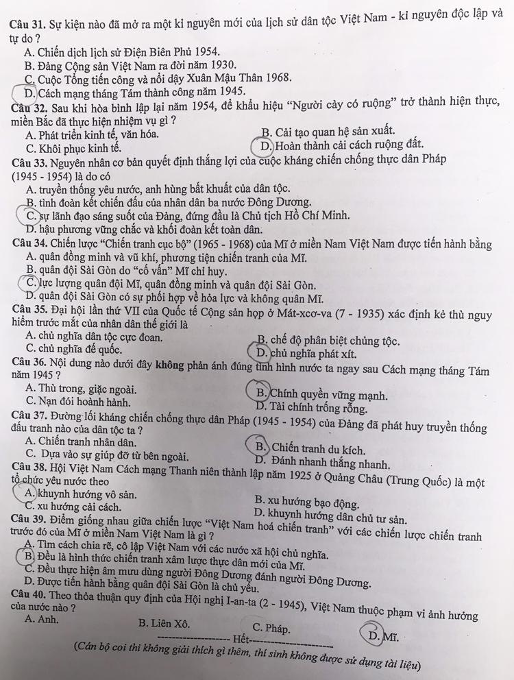 Ảnh 11: Đáp án chính thức toàn bộ môn thi vào lớp 10 - We25.vn