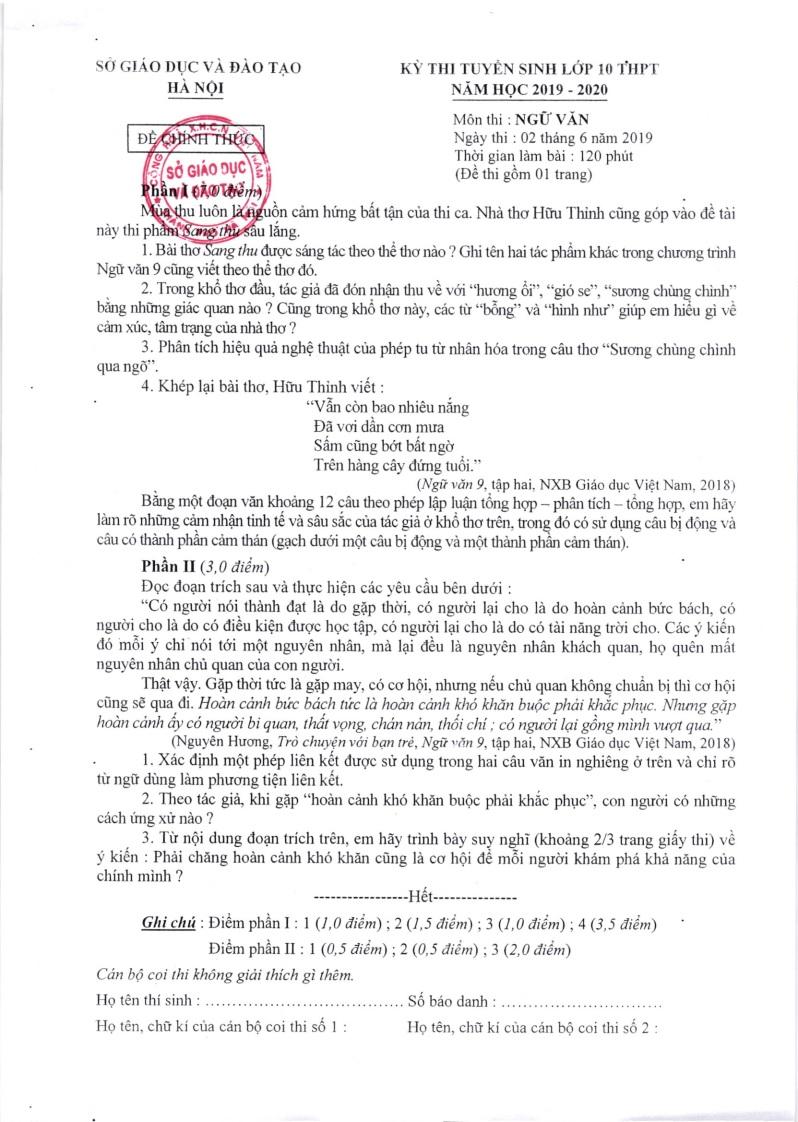Ảnh 6: Đáp án chính thức toàn bộ môn thi vào lớp 10 - We25.vn