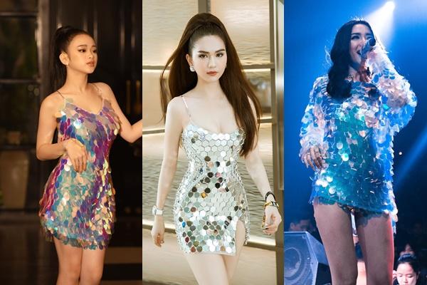 """Ngọc Trinh bất ngờ """"đụng độ"""" Linh Ka với kiểu váy lấp lánh nhưng cả 2 vẫn """"thua"""" mỹ nhân này"""