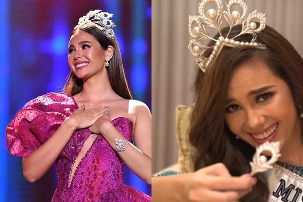 Đương kim Hoa hậu Hoàn vũ xuất hiện với chiếc vương miện giả, nghi ngờ đã làm hỏng vĩnh viễn chiếc thật