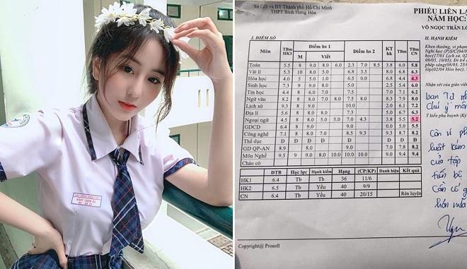 Lộ bảng điểm kém khi sắp thi đại học, nữ sinh nổi tiếng Sài thành lên tiếng giải thích