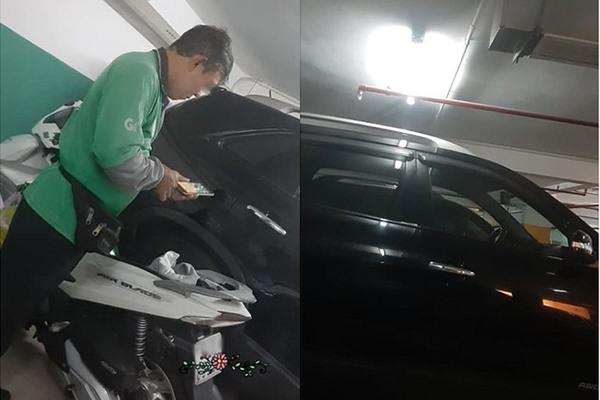 """Đời biết đâu chữ """"ngờ"""": """"Chủ tịch"""" lái xe hơi tiền tỷ vào hầm, thay bộ vest trang trọng rồi mặc áo Grab chạy xe ôm?"""