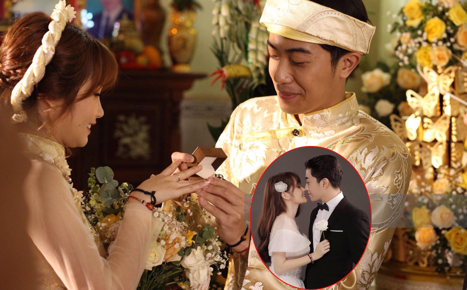 Cris Phan tình tứ trao nhẫn cho cô dâu, cặp hot Youtuber và hot girl chính thức là vợ chồng