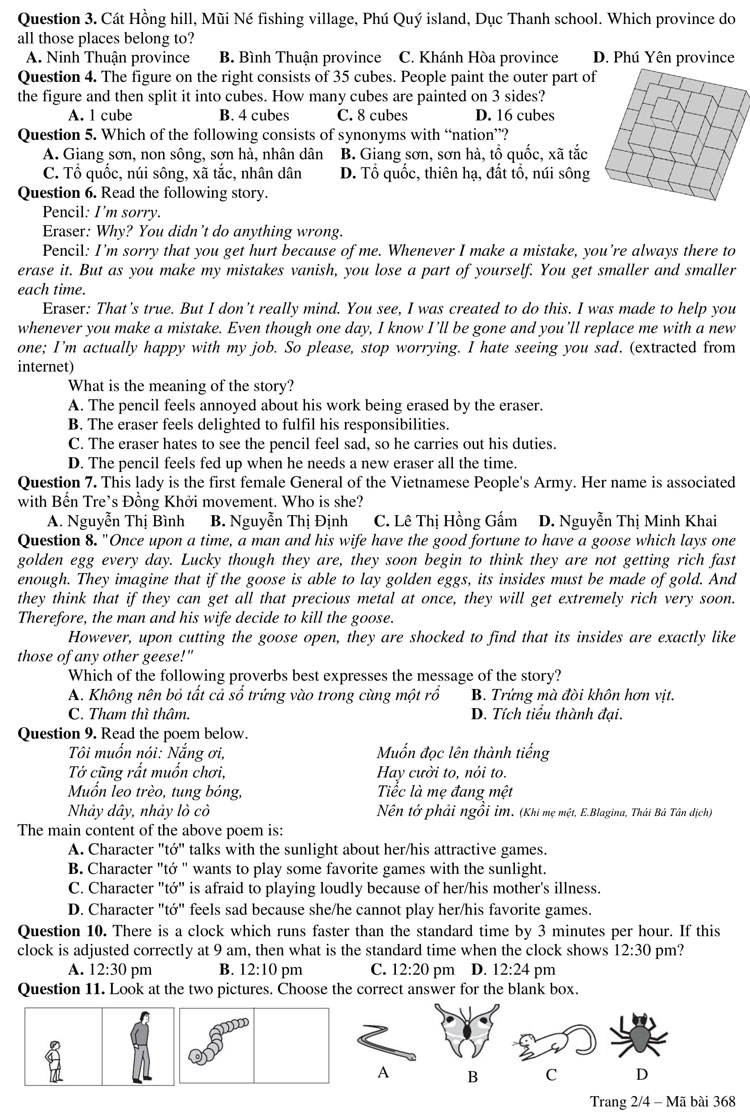 Ảnh 2: Đề thi lớp 6 - We25.vn