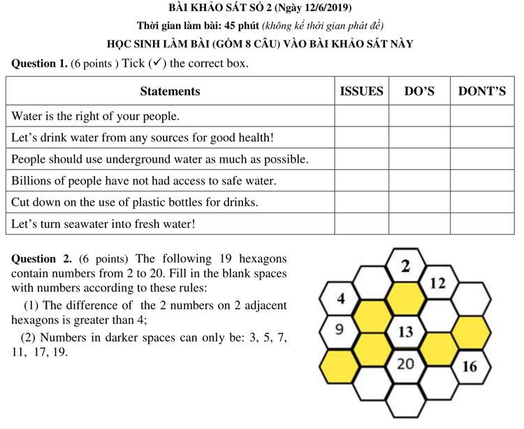 Ảnh 5: Đề thi lớp 6 - We25.vn