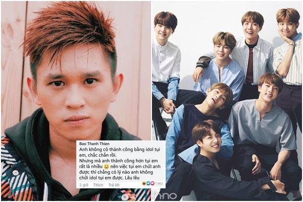 """Góc dũng cảm: B Ray lại nói kháy BTS, thách thức ARMY: """"Trẻ trâu, anh có quyền nói  idol các em"""""""