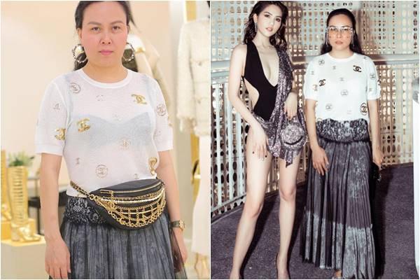 """Mặc đồ lót """"kém sang"""", Phượng Chanel biến áo hiệu thành áo lưới hàng chợ"""