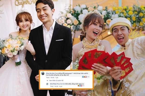 Lấy được vợ vui quá, Cris Phan lộ luôn chuyện Mai Quỳnh Anh có bầu trong comment?