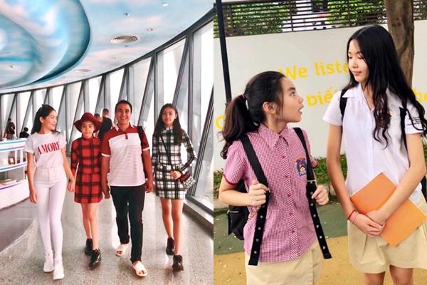 Hai cô con gái của MC Quyền Linh: Xinh cao chẳng kém gì Hoa hậu, lại có gout ăn mặc đáng yêu thế này