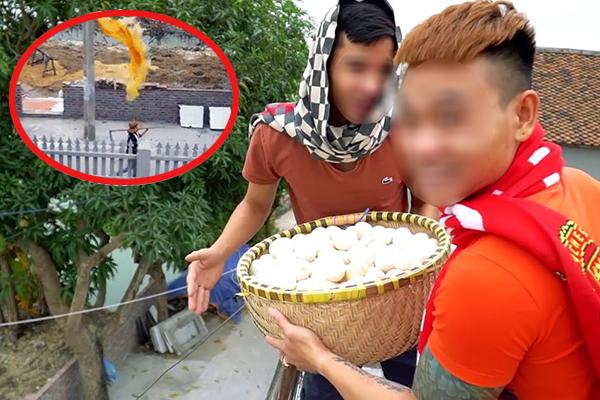 """CĐM phát hiện thêm clip Youtuber đổ 400 quả trứng sống vào đầu cô hàng xóm, xin lỗi bằng 500k với thái độ """"bỡn cợt"""""""