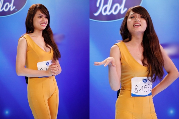 Hương Giang lần đầu chia sẻ về những bí ẩn đằng sau bộ jumpsuit bó sát, vàng chóe tại Vietnam Idol 2012