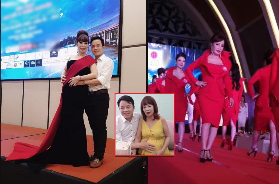 Sau khi đánh bóng lại tên tuổi nhờ mang thai giả, cô dâu 62 tuổi được chồng tháp tùng sang Indonesia dự thi Hoa hậu